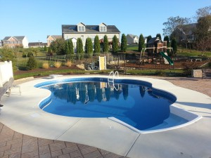Pool with Entry System